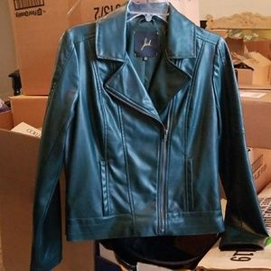 Dark Teal Moto Jacket